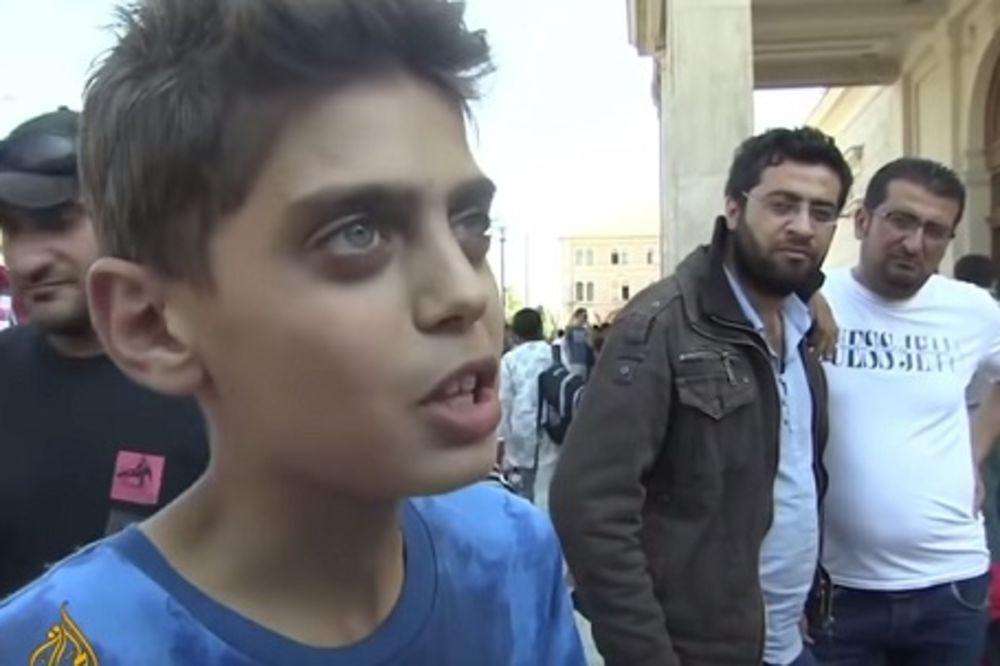 (VIDEO) DEČAK IZ SIRIJE OSVOJIO INTERNET: Pomozite nam, ne želimo da budemo u Evropi, zaustavite rat