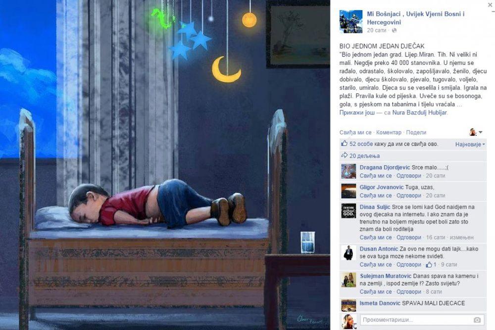 BIO JEDNOM JEDAN DEČAK: Bosanska književnica napisala emotivnu priču o smrti sirijskog mališana