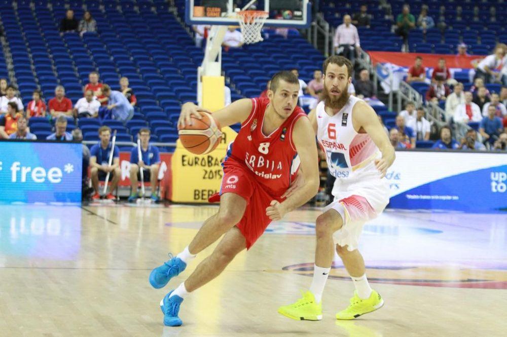 Srbija, Španija, Evrobasket, Nemanja Bjelica Foto: Fonet