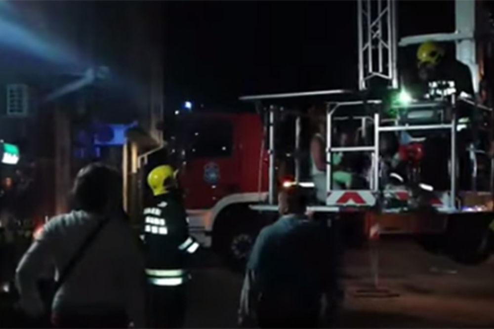 požar, eksplozija, televizor, evakuacija, Novi Sad, Foto: printscreen Youtube