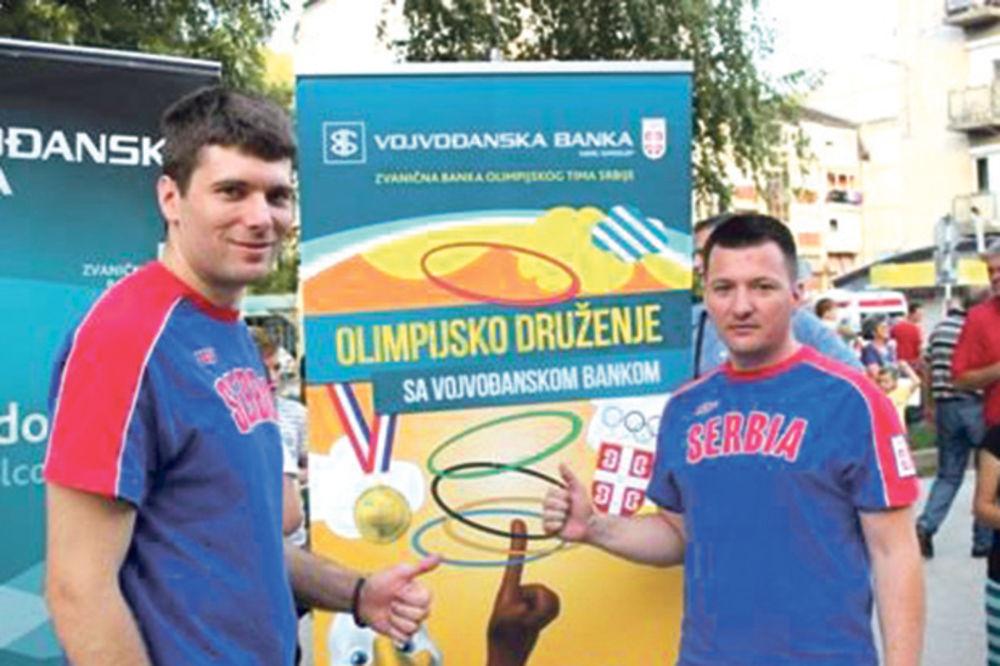 Zlatić i Grgić učili decu o olimpizmu