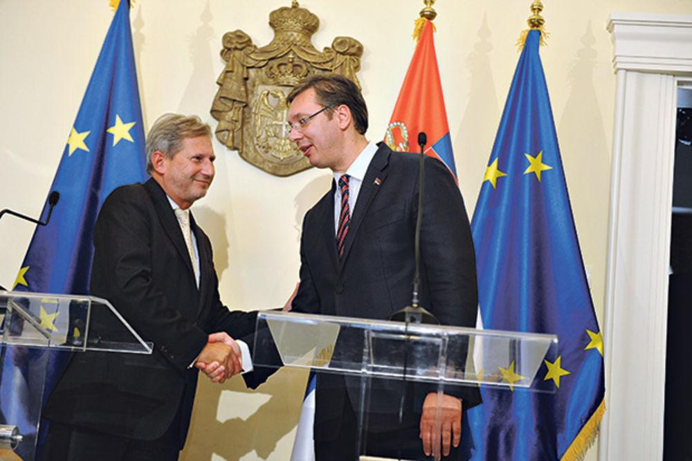 Podrška Evrope... Johanes Han sa premijerom Srbije