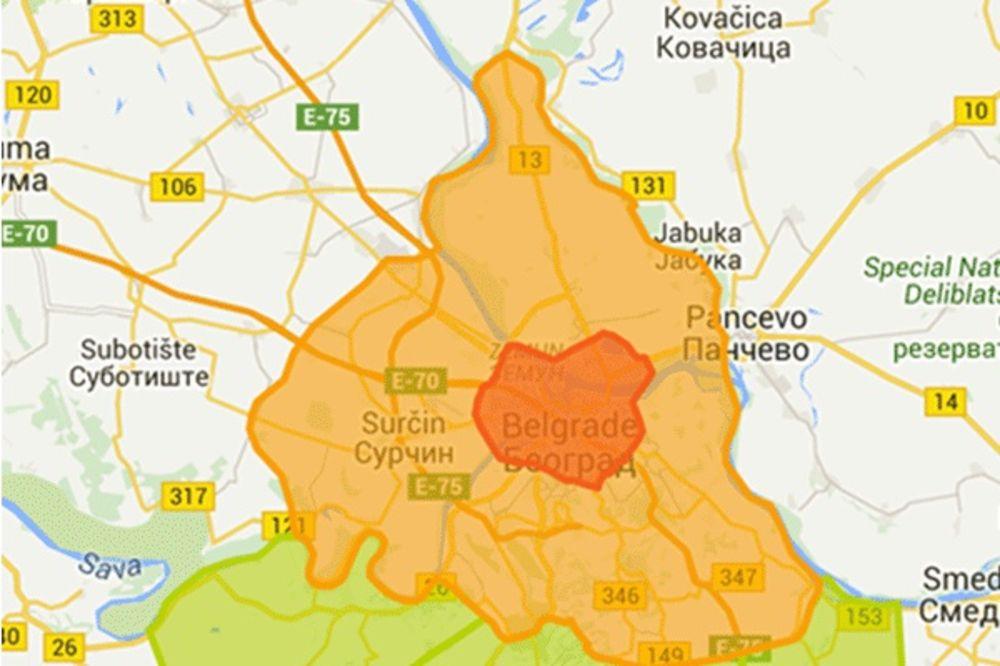 Mapa Nove Zone Od Danas Novi Tarifni Sistem U Gradskom