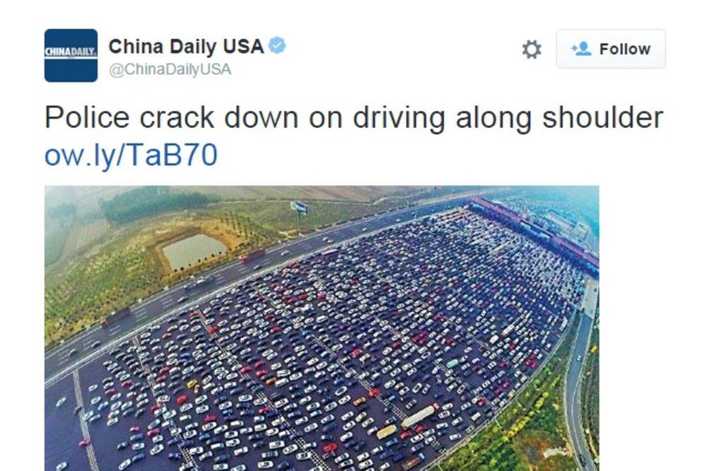 (VIDEO) ŠAČICA AUTOMOBILA... Pogledajte kako izgleda auto-put u Kini za vreme gužve