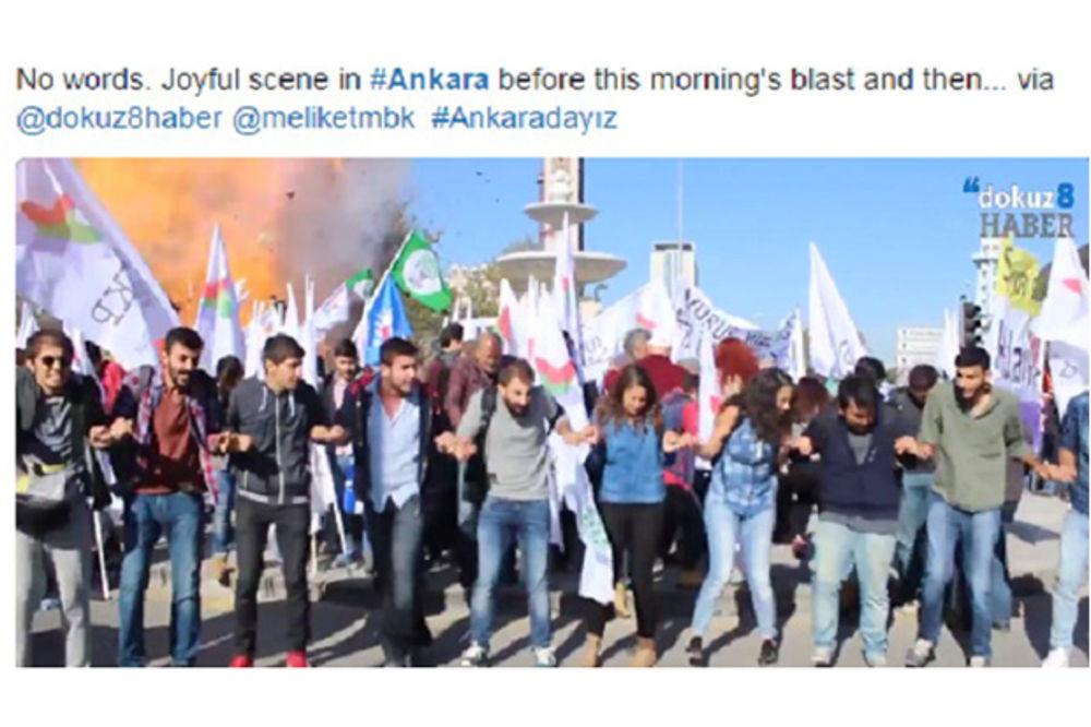 Ankara eksplozija trenutak foto Twitter pt
