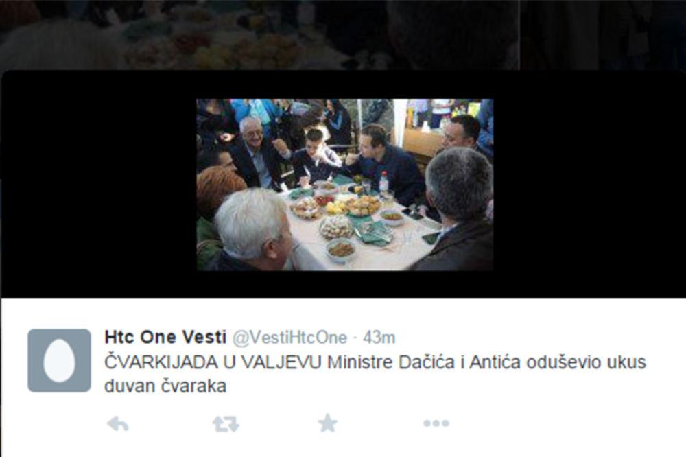 ALA JE OVO UKUSNO Dačić: Srbija da neguje Čvarkijadu