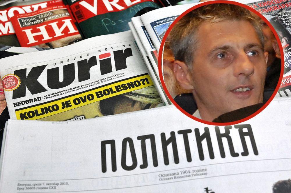 Goran Veselinović, novine, foto Stefan Jokić
