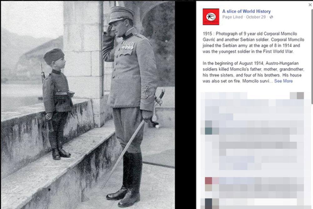 SRBIJO, NE ZABORAVI SVOG JUNAKA: Momčilo Gavrić je sa 8 godina najmlađi vojnik Prvog svetskog rata