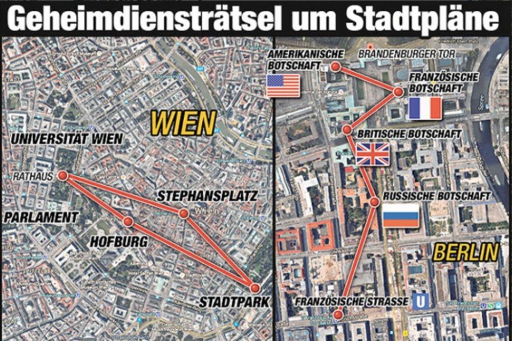 Karta Nemacke Berlin.Foto Ovo Je Mapa Napada Na Bec I Berlin Tajne Sluzbe Kod Grupe