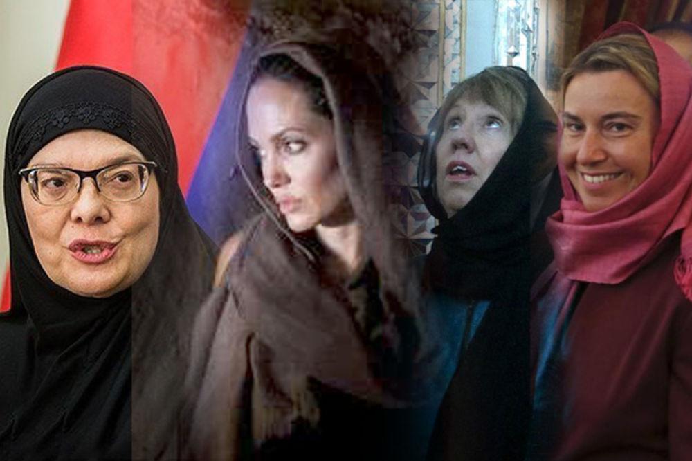 NAŠA MAJA SE BAŠ ZAMOTALA: Druge gošće Irana nosile samo maramu, Anđa čak i bretele