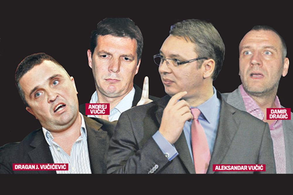 Dragan Vučićević, Andrej Vučić, Aleksandar Vučić, Damir Dragić, foto Kurir