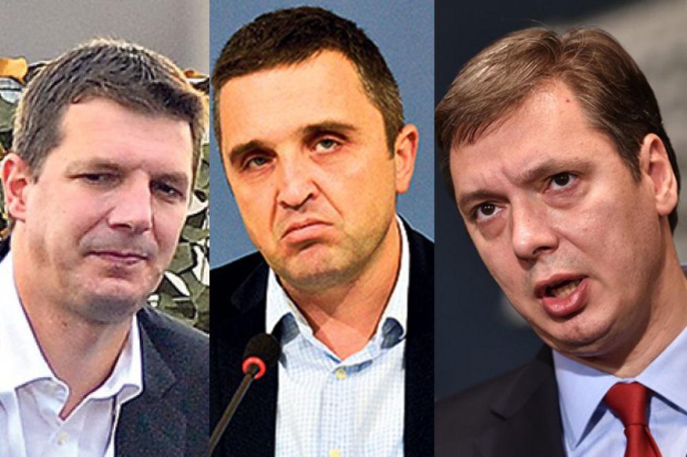 Aleksandar Vučić Andrej Vučić Dragan J Vučićević Foto Profimedija Dado Djilas