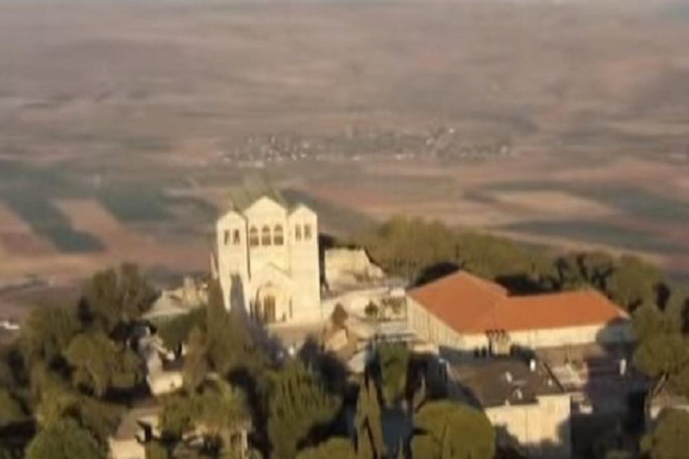 Oblak se spusti na pravoslavni Hram Preobraženja Gospodnjeg na Tavoru (Foto: Printscreen YouTube)