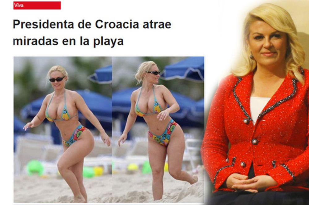 Kakav blam: Šta to Kolinda Grabar Kitarović radi na plaži u oskudnom bikiniju?