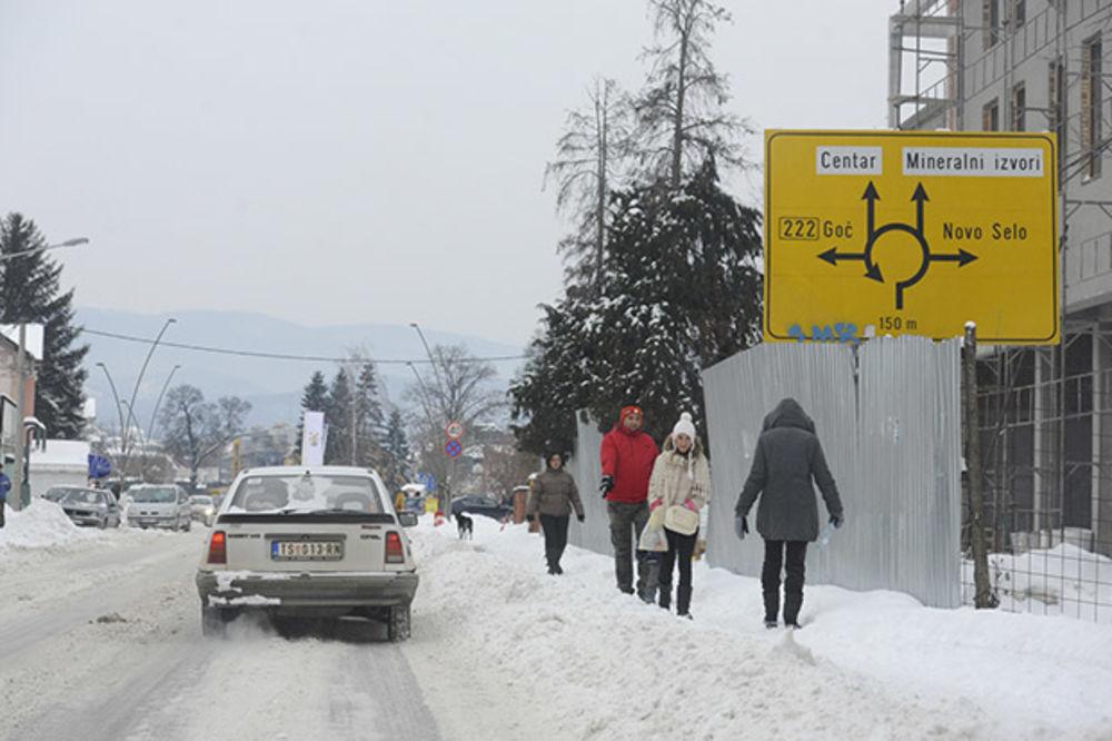 Vrnjacka Banja, zima, sneg  Foto Nemanja Pancic
