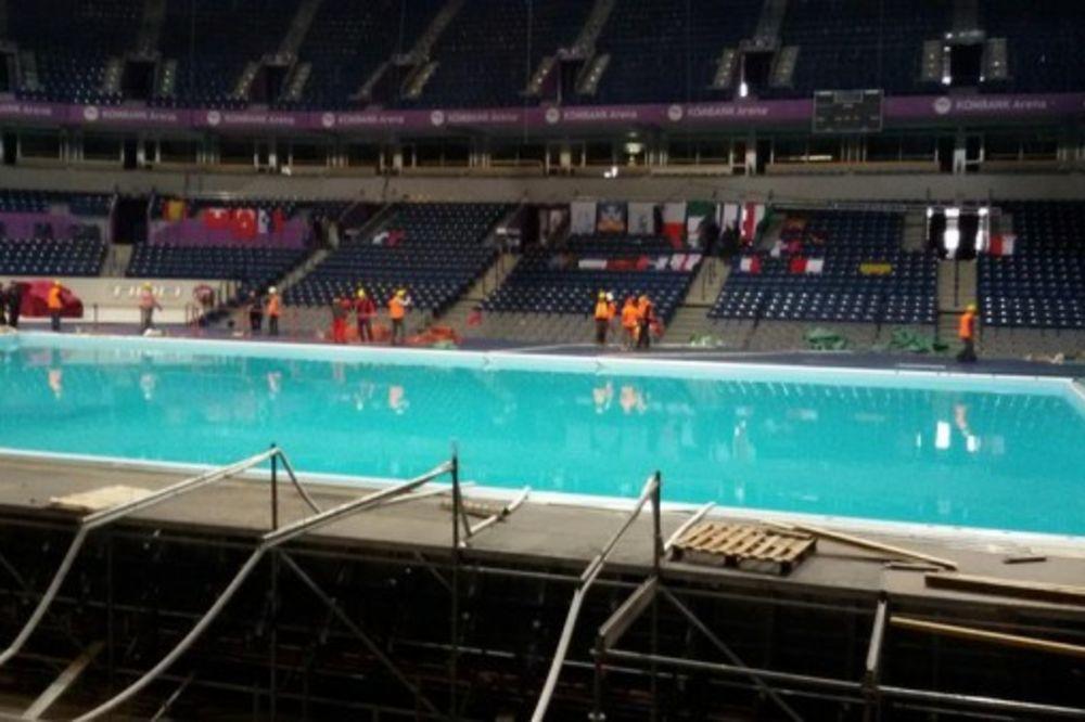 BAZENI PUNI: Arena spremna za Evropsko prvenstvo u vaterpolu