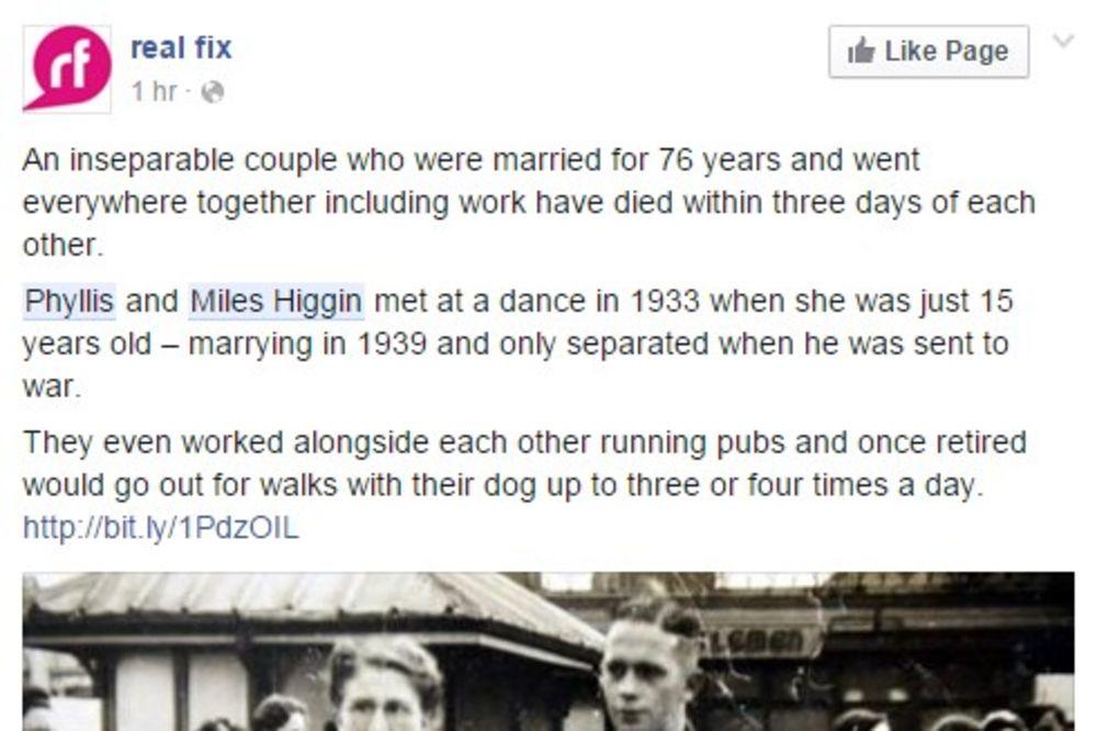 PROBAJTE DA NE ZAPLAČETE: Živeli zajedno 76 godina, sve radili zajedno i umrli u istoj nedelji