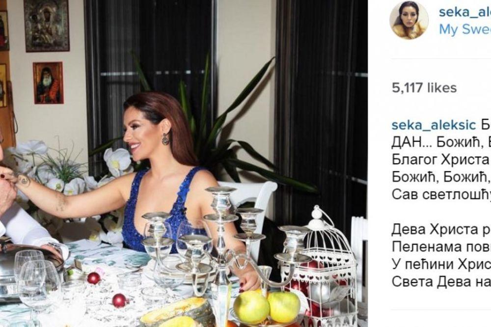 Seka Aleksic, foto Printscreen/Instagram