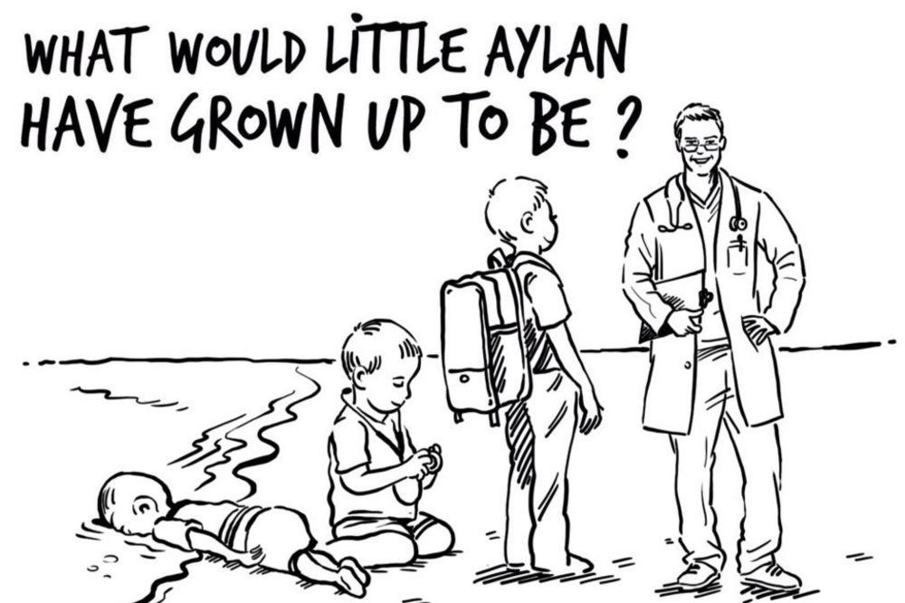 DRUGA STRANA SUDBINE: Crtež jordanske kraljice kao odgovor na skandaloznu karikaturu Šarli Ebdoa!