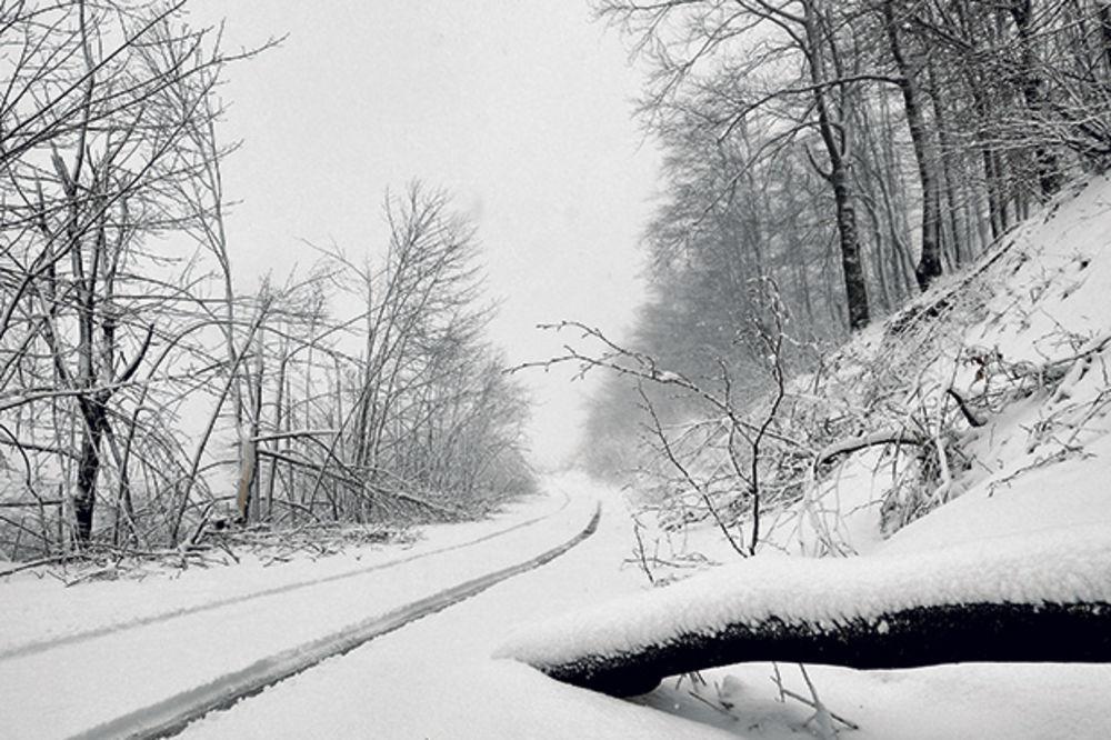 ZABELELA SE JUGOZAPADNA I JUŽNA SRBIJA: Najviše snega na Kopaoniku 12, a u Leskovcu 2 centimetra