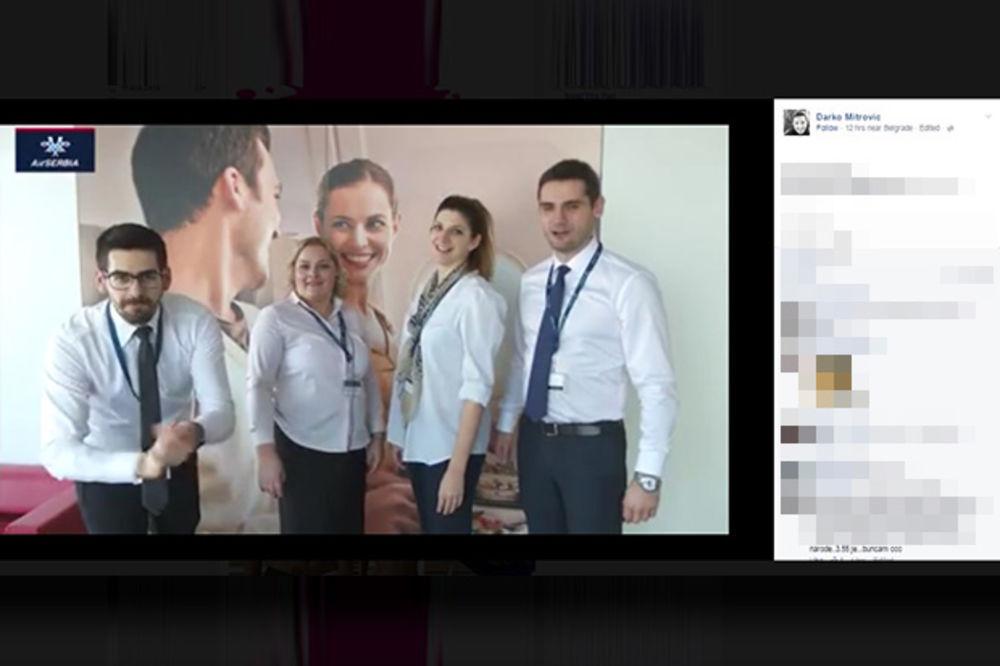 VIDEO SRBIJA SE NA FB SPRDA SA OVOM REKLAMOM: Ono kad Er Srbija snimi spot podrške vaterpolistima?!