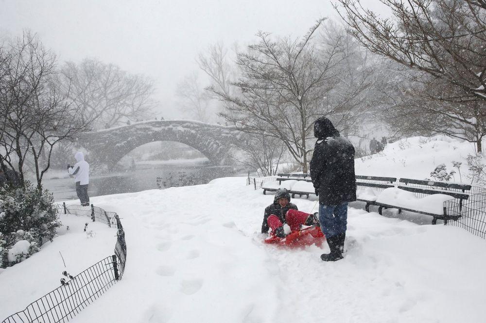 Sankanje u njujorškom Central parku (Foto: Reuters)