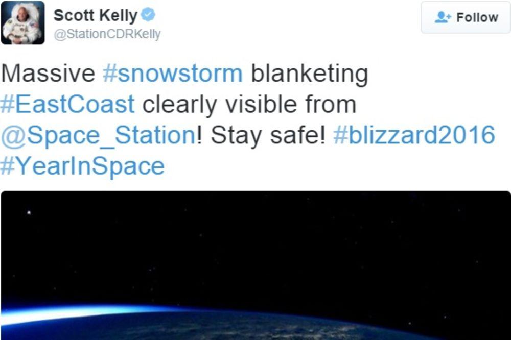 (FOTO) ASTRONAUT ZABELEŽIO NESVAKIDAŠNJE FOTOGRAFIJE Pogledajte kako se snežna oluja vidi iz svemira