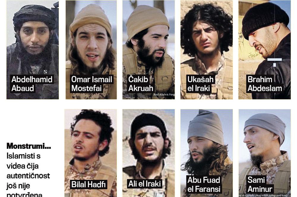 OVO SU KRVNICI IZ PARIZA: Islamska država objavila snimke ubica 130 ljudi!