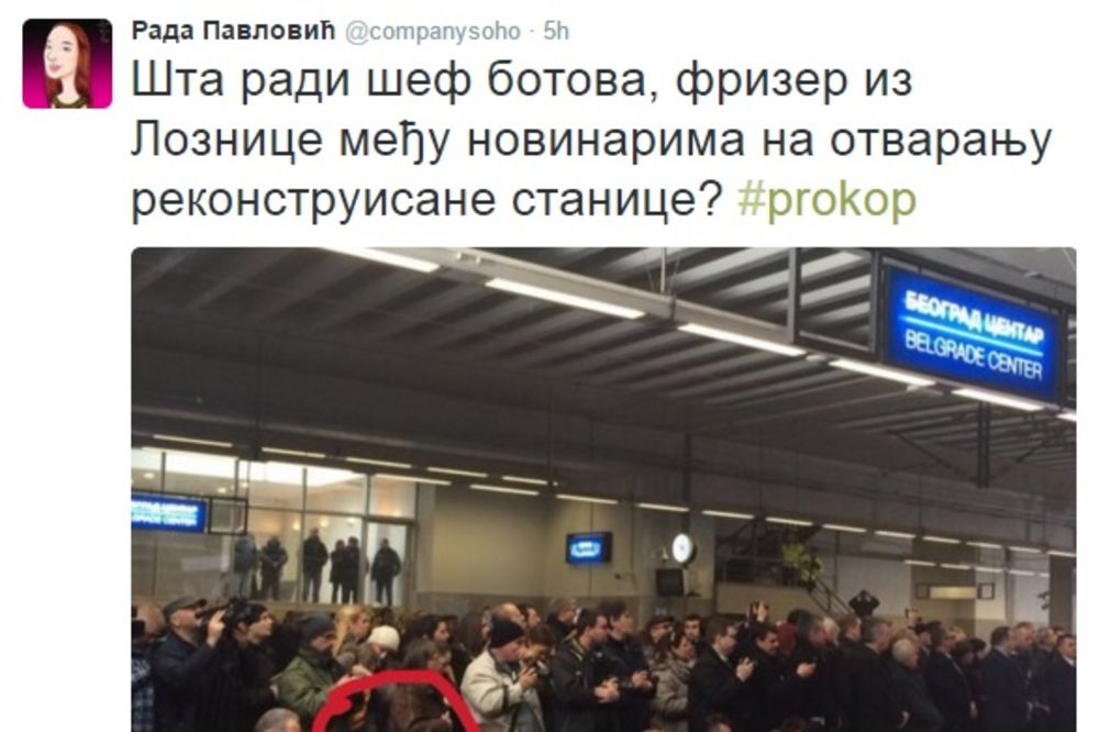 TVITER RAZOTKRIVANJE: Šta će šef SNS botova među fotoreporterima na Prokopu?