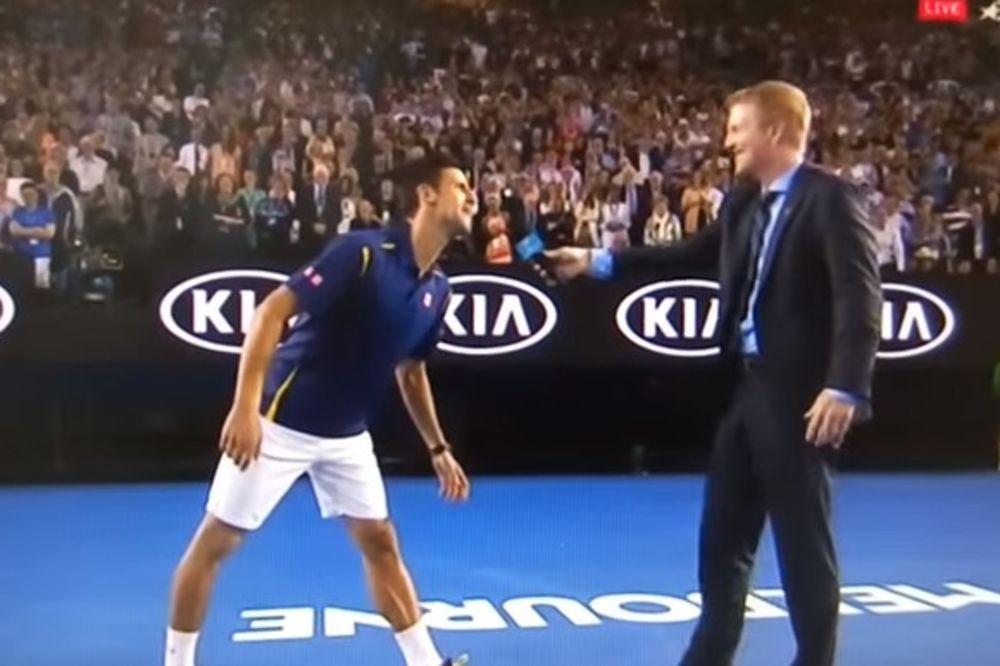 (VIDEO) URNEBESAN INTERVJU POSLE DEMOLIRANJA FEDERERA: Ko se oseća, a ko beži, Novak ili Kurijer!?