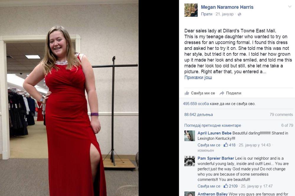 PRODAVAČICA JOJ REKLA DA JE DEBELA: Evo kako im je mama odgovorila na Fejsbuku!