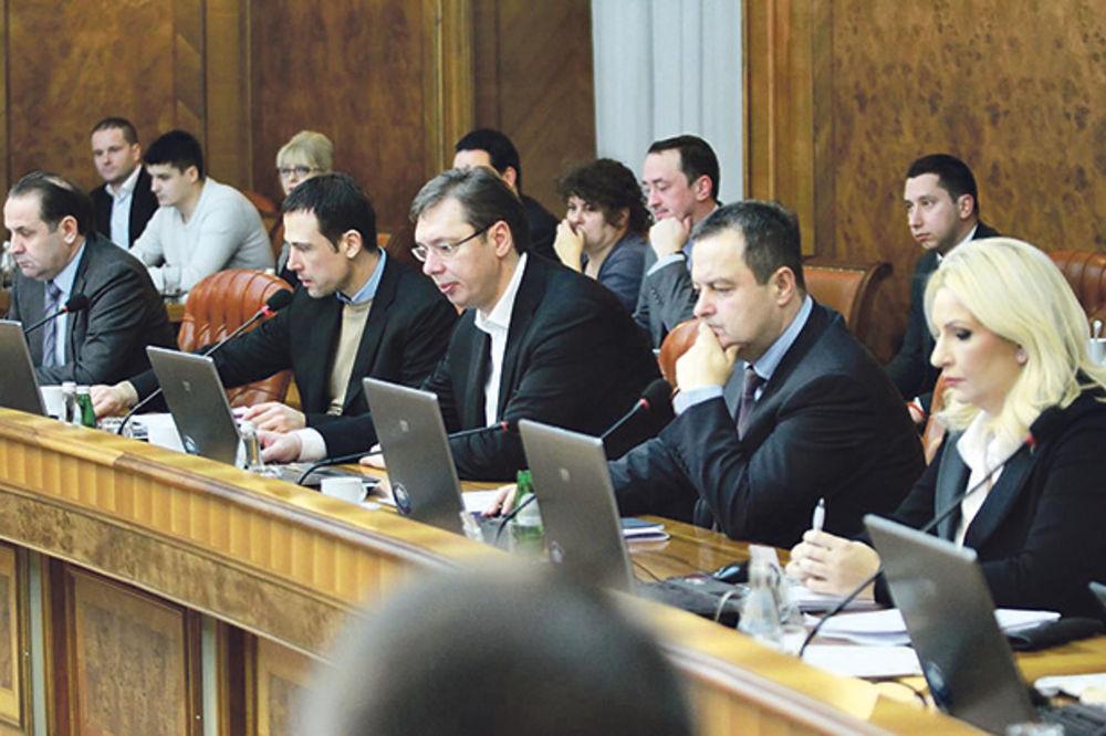 MINISTRI NA OKUPU U NEMANJINOJ: Danas nova sednica Vlade