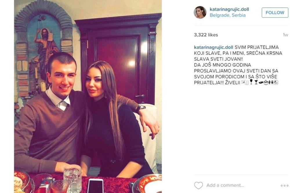 (FOTO) KATARINU GRUJIĆ ISPOROZIVALI NA INSTAGRAMU: Evo kako je Buha odbranio svoju devojku