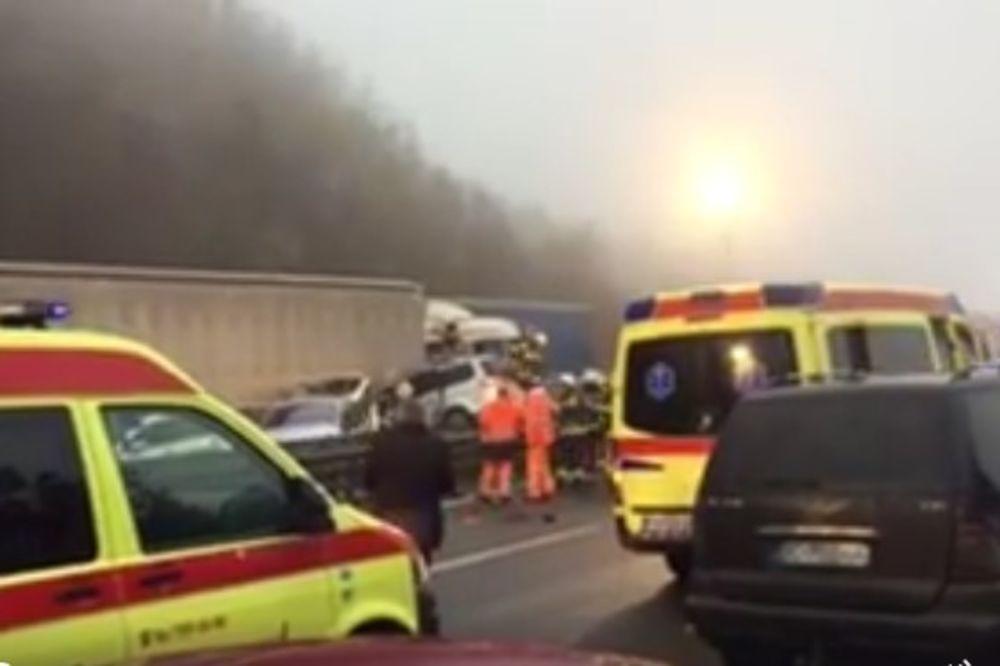 (VIDEO) SLOVENIJA: Pet mrtvih, 30 povređenih u lančanom sudaru 70 vozila