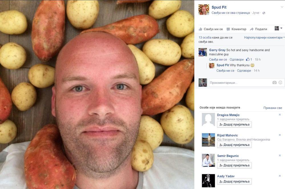 VIDEO VAGA MU OČITALA 151 KG: Odlučio sam da 356 dana jedem samo krompir, a za 30 dana sam smršao 10