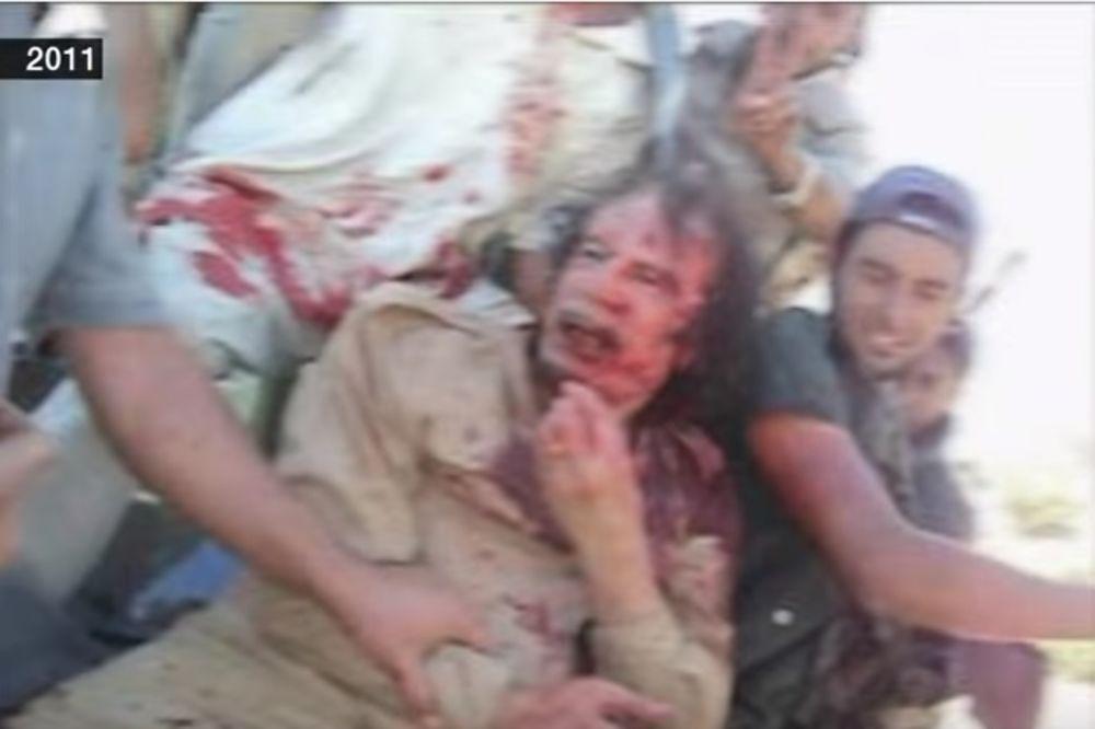 (UZNEMIRUJUĆI SNIMAK) POSLEDNJI TRENUCI PUKOVNIKA GADAFIJA: BBC objavio novi šokantan video!