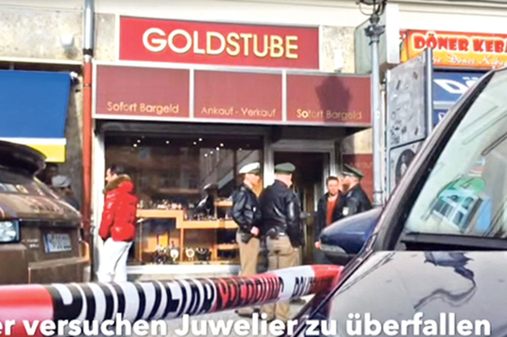 Srbin, Minhen, zlatara, pljačka, Foto printskrin YT