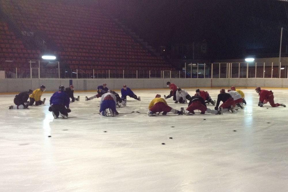 KVALIFIKACIJE ZA ZOI: Hokejaši Srbije počeli pripreme za turnir u Kortini