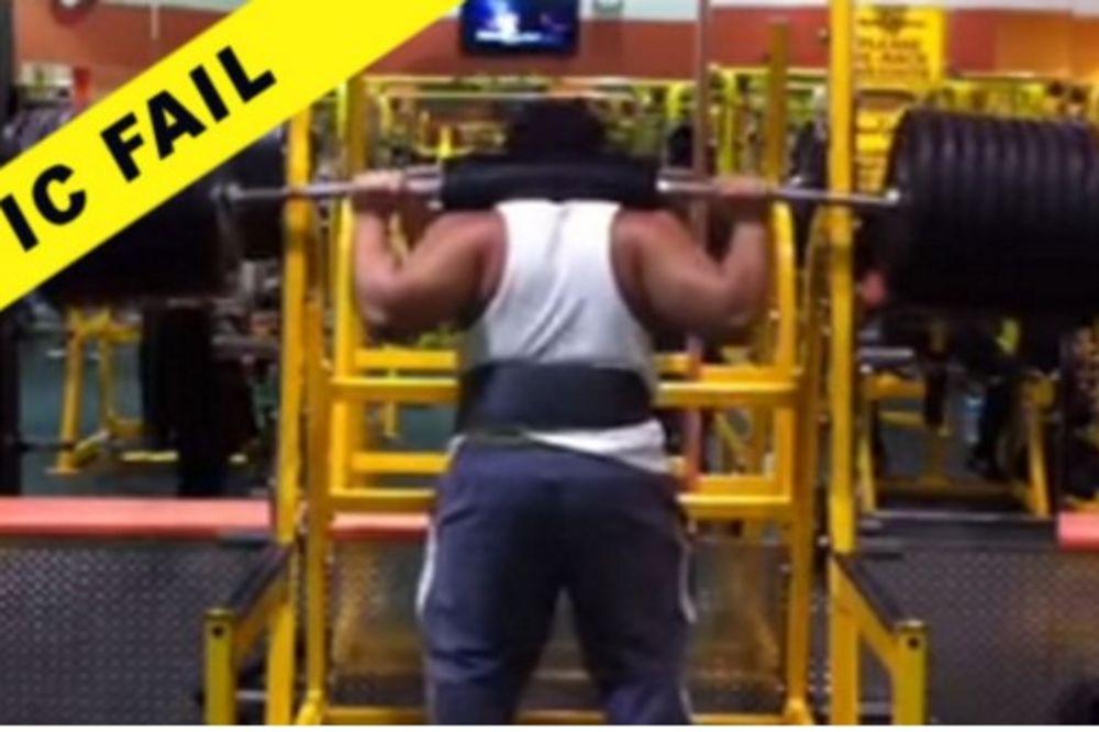 NEKI MUŠKARCI SU ZAISTA GLUPI: Pokušao je da podigne 390 kg...Nije ispalo baš najbolje!