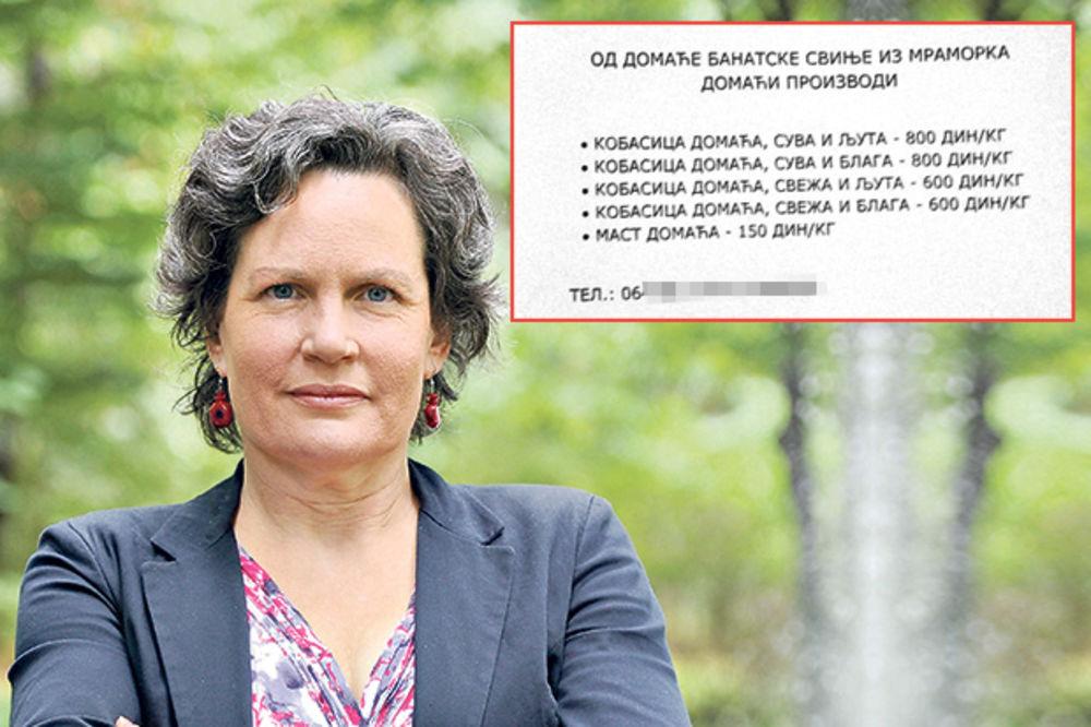 ČITAJTE U KURIRU KORI POSTALA KOBASIČKI: Ministarka Udovički prodaje kobasice!