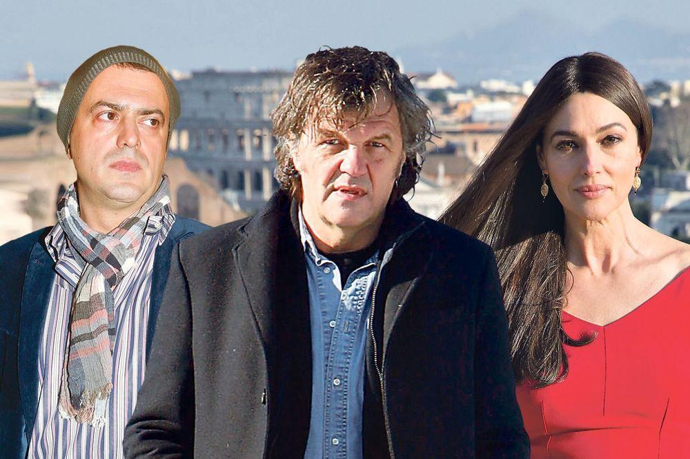 Emir Kusturica, Sergej Trifunović, Monika Beluči,