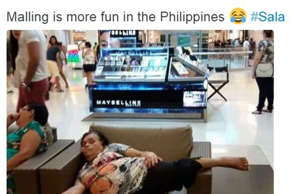 (FOTO) URNEBESNO: Zaspala u tržnom centru, kad je otvorila oči, evo šta je strefilo!