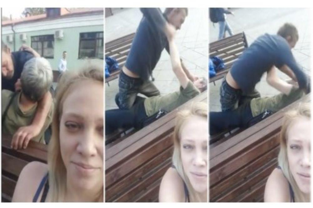 (VIDEO) RUSKINJA SE PRAVILA DA SNIMA SELFI: Međutim, snimala je pijanu uličnu tuču iza nje!
