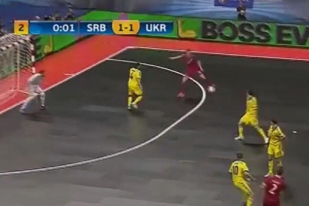 (VIDEO) UKRAJINCI SE UZALUD BUNILI: Simićev gol regularan, postignut 0,3 sekunde pre kraja