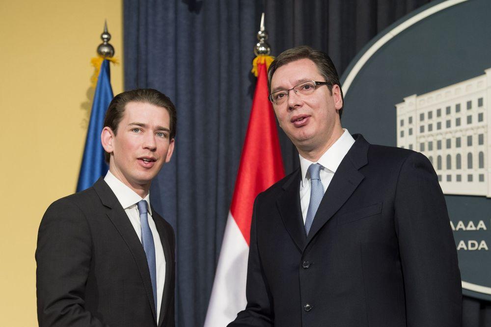 UŽIVO VUČIĆ SA KURCOM: Austrija je najveći investitor u Srbiji i naša najveća podrška na putu ka EU