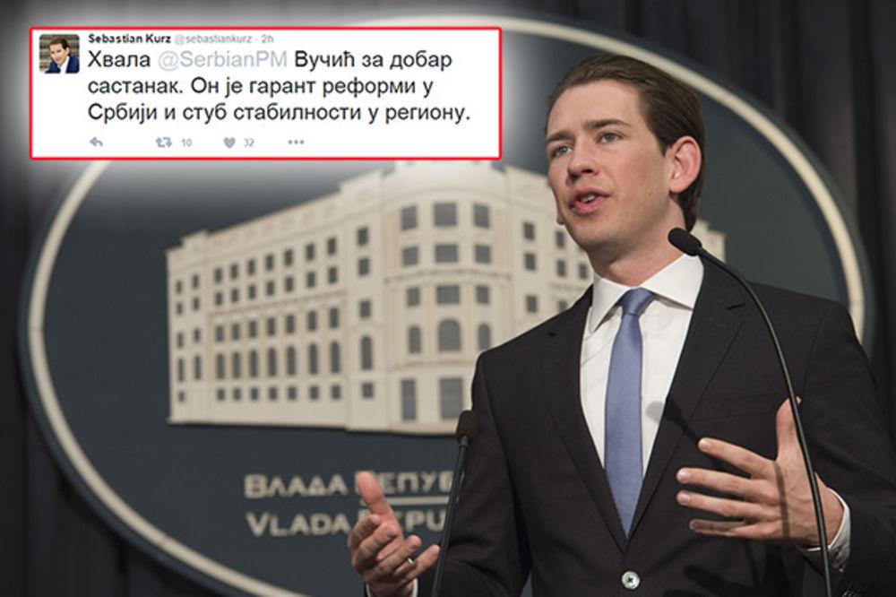 (FOTO) KURC PIŠE ĆIRILICOM: Evo šta je tokom posete Beogradu objavio na Tviteru!