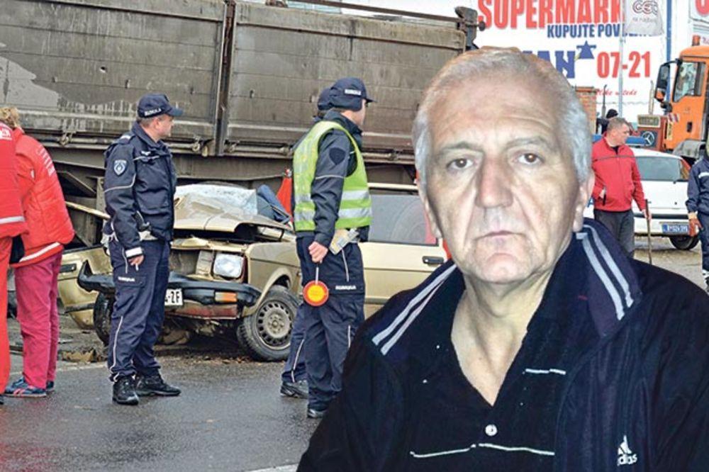 Živomir Gajić, udes, saobraćajna nesreća, Ibarska magistrala, foto Nebojša Mandi
