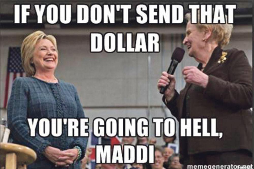 PEH: Hilari ismejana jer traži jedan dolar!