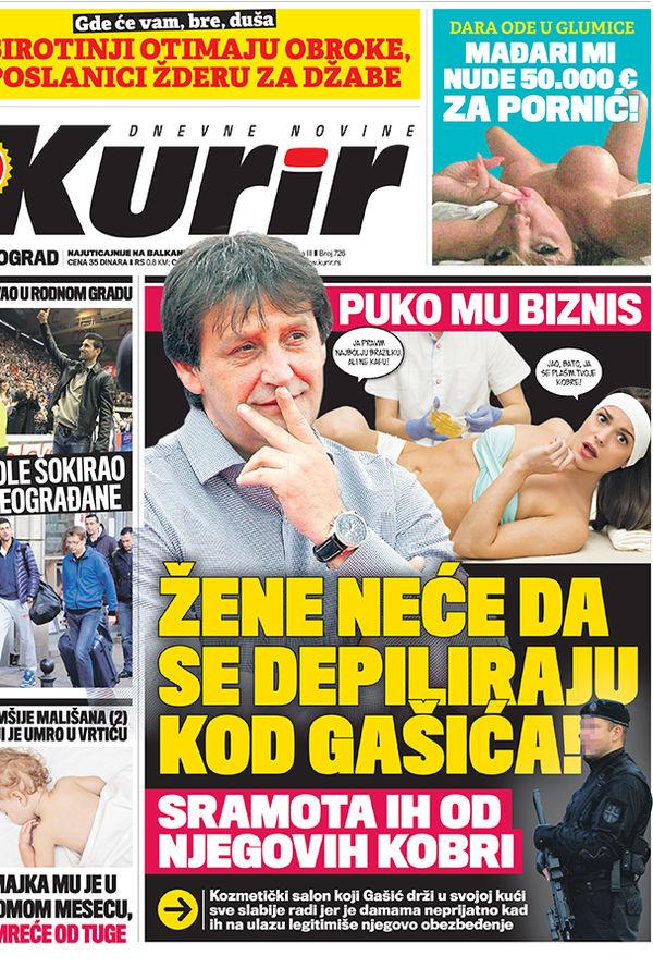 Bratislav Gašić frizersko-kozmetički salon salon Insomnija žene depilacija sramota kobre obezbeđenje Kruševac