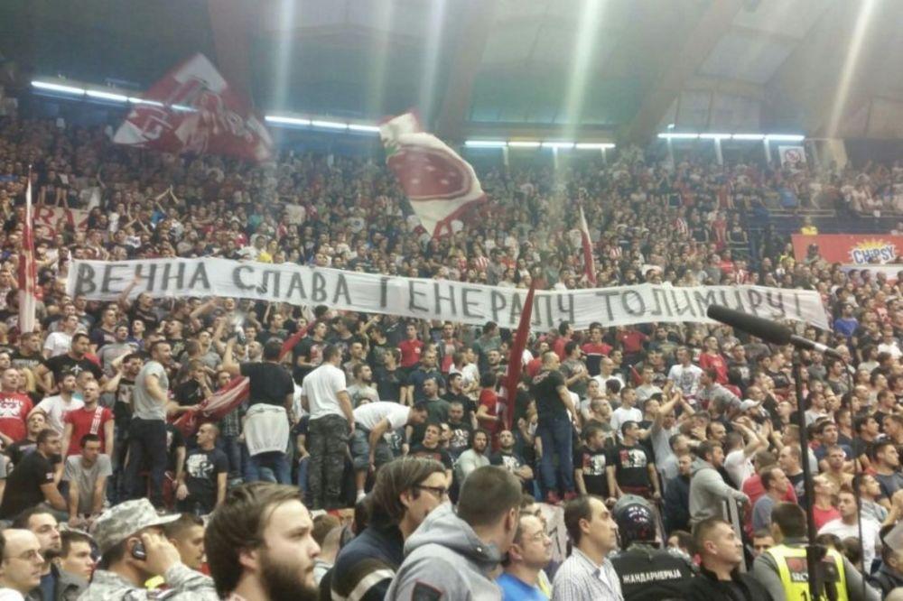 (FOTO) POSLEDNJI POZDRAV SRPSKOM GENERALU: Delije odale počast preminulom Zdravku Tolimiru!